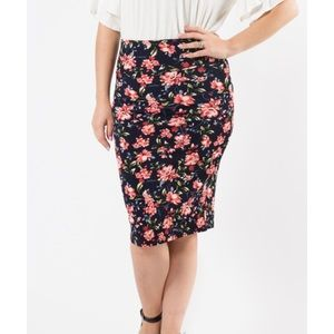 Agnes & Dora Pencil Skirt Oh Little Darling Navy